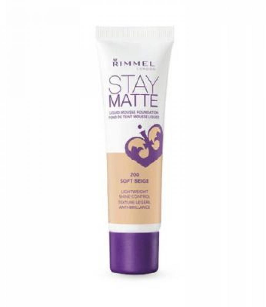 Rimmel London Stay Matte Liquid Mousse Foundation 300 Sand 30ml