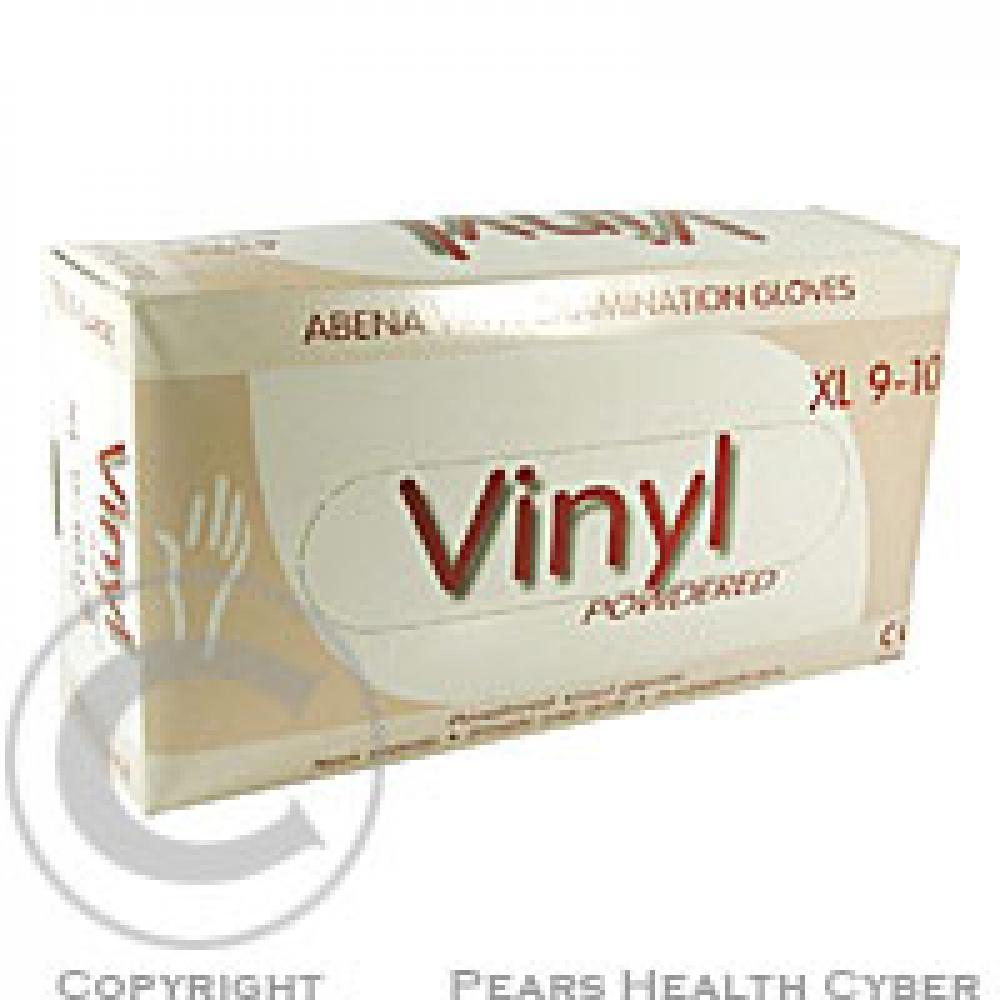 Rukavice Abri vinyl XL 4393 100 ks vyšetř.