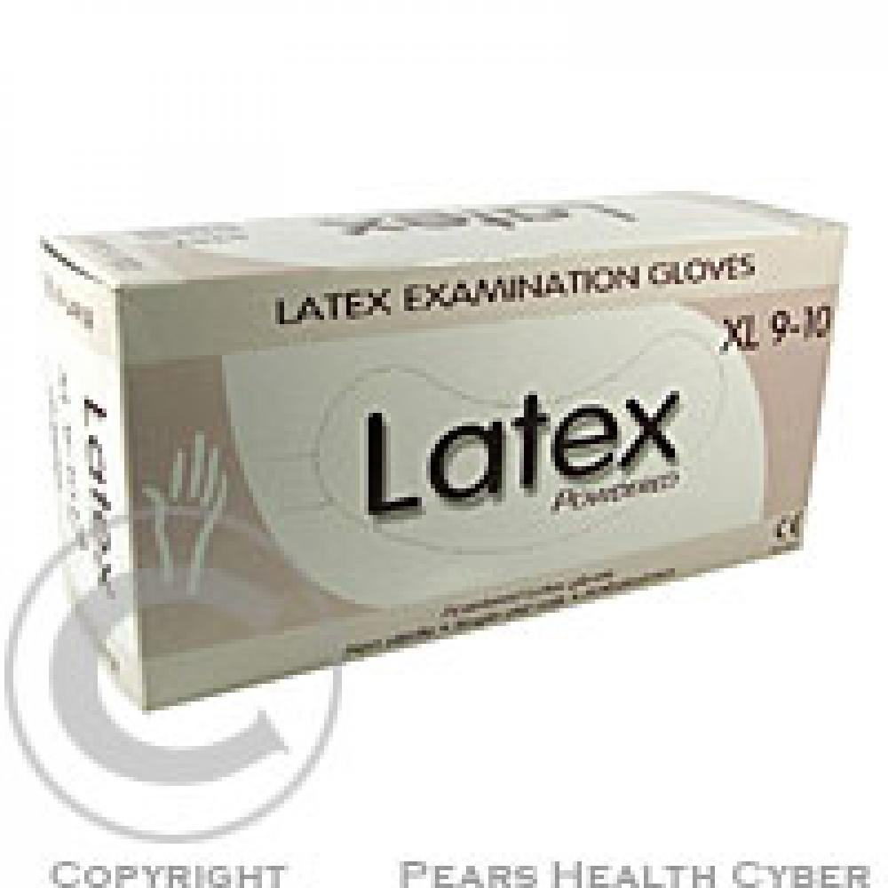 Rukavice vyš. XL latex/100 ks Saek