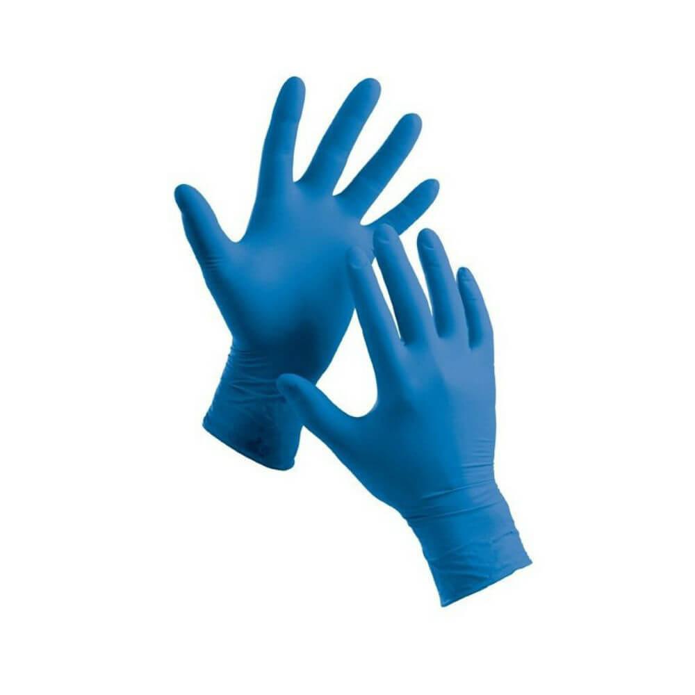 MSM Rukavice vyšetřovací nitrilové bez pudru modré L 200 kusů ... f60498a749