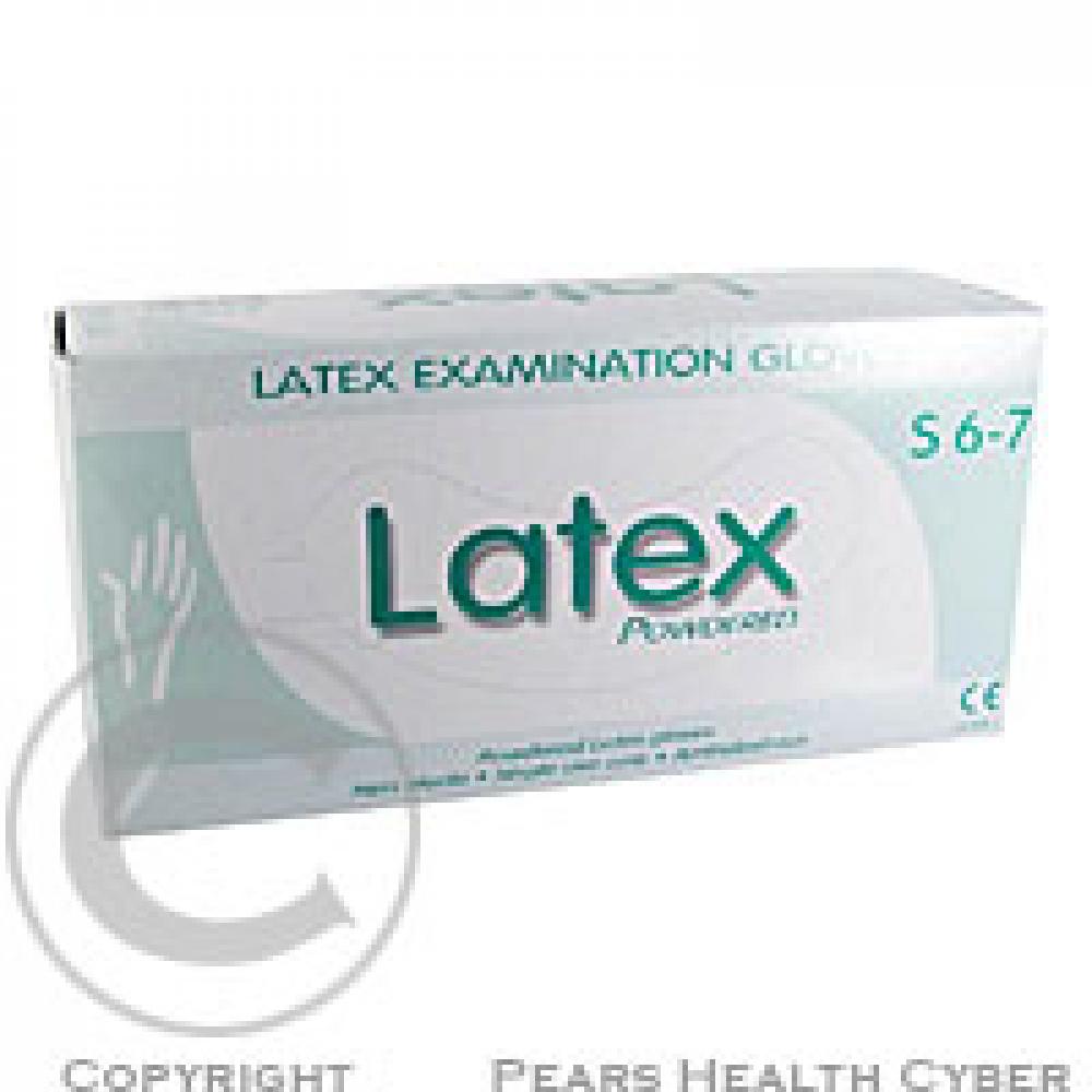 Rukavice vyšetřovací S latex 100 ks