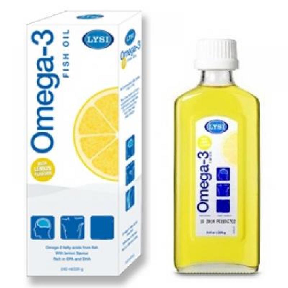 Rybí olej OMEGA-3 LEMON Island 240 ml