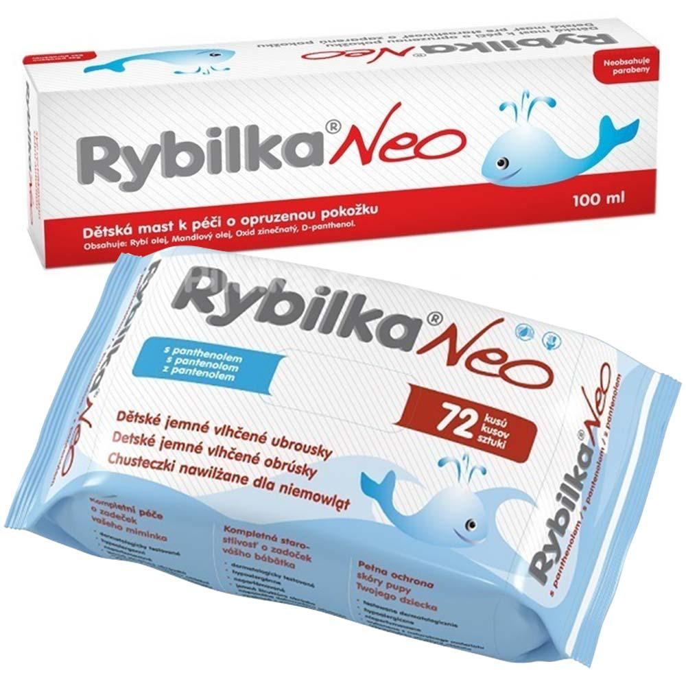 RYBILKA NEO 100 ml + RYBILKA NEO vlhčené ubrousky 72 ks