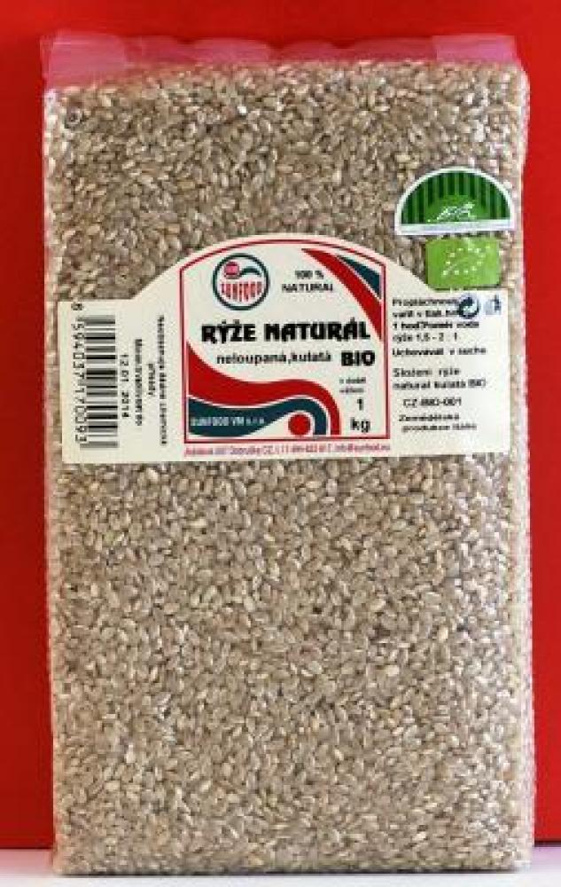 Rýže natural krátká BIO 1 kg vakum