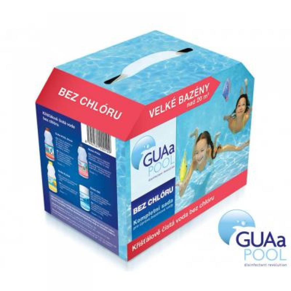 Sada bazénové chemie bez chlóru pro velké bazény