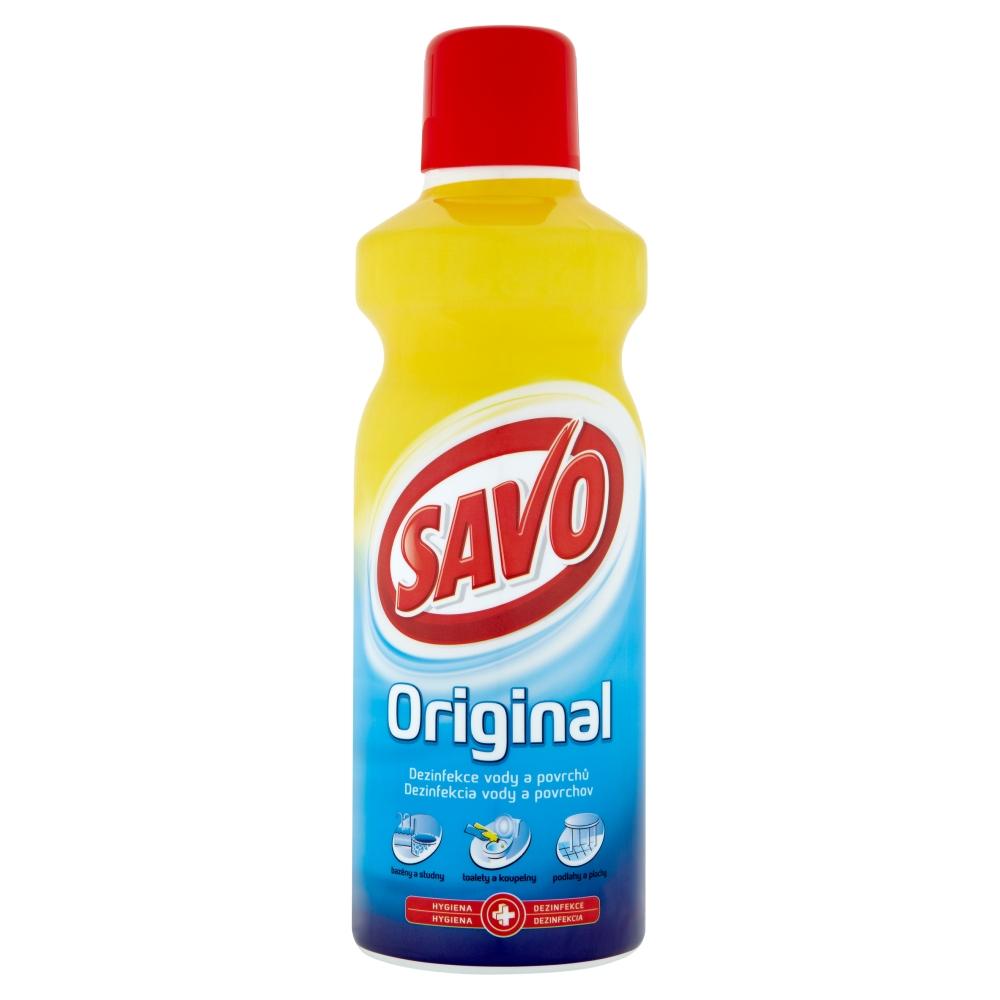 Savo obsahuje chlornan sodný a dá se použít jako dezinfekce k ničení viru moru králíků