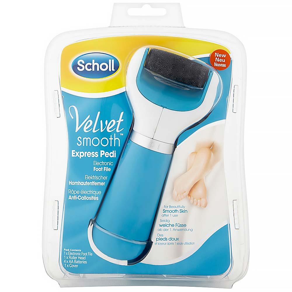 SCHOLL Velvet Smooth elektrický pilník na chodidla DIAMOND modrý