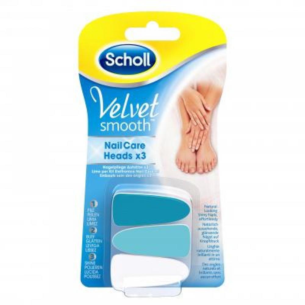 SCHOLL Velvet náhradní hlavice do elektrického pilníku na nehty 3 ks