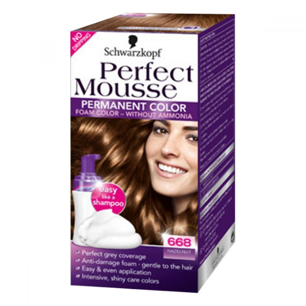 SCHWARZKOPF Perfect Mousse 668 oříšek