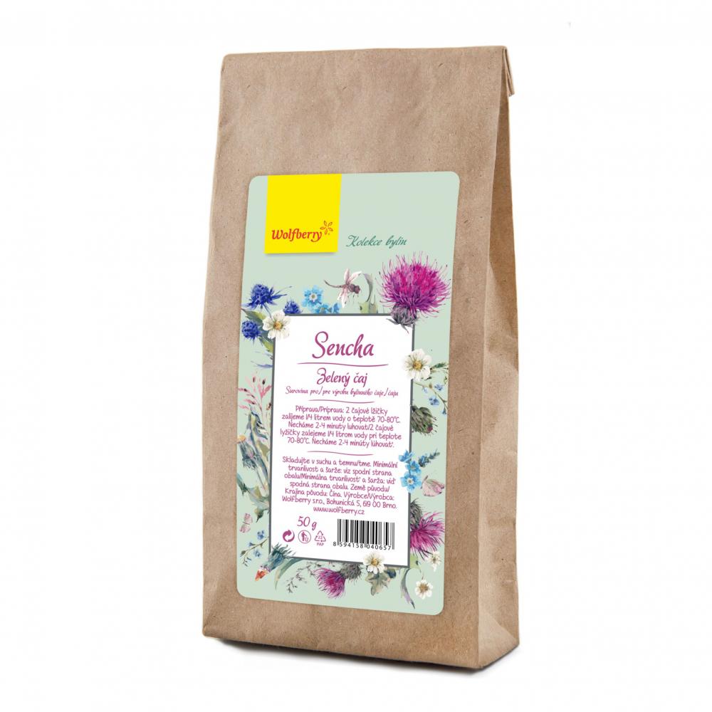 WOLFBERRY Zelený čaj Sencha 50 g