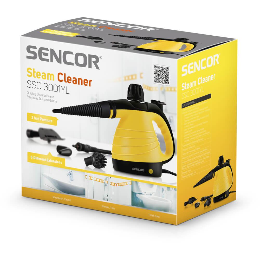 SENCOR parní čistič SSC 3001YL