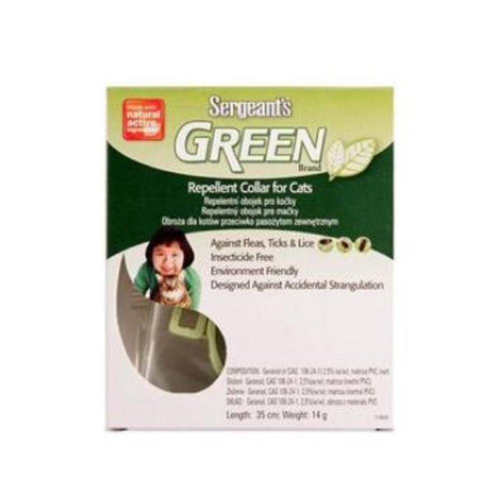 SERGEANT´S Green obojek pro kočky 35 cm 1 kus