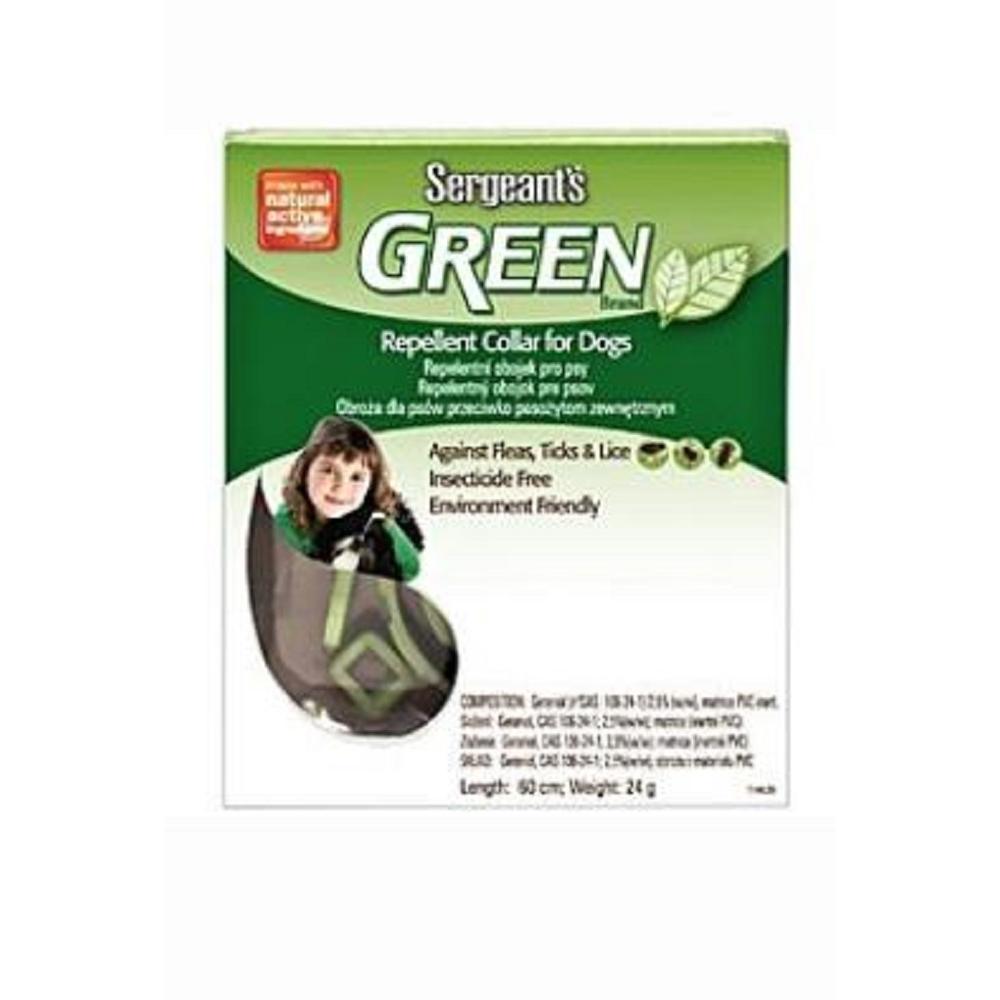 SERGEANT´S Green obojek pro psy 60cm 1ks