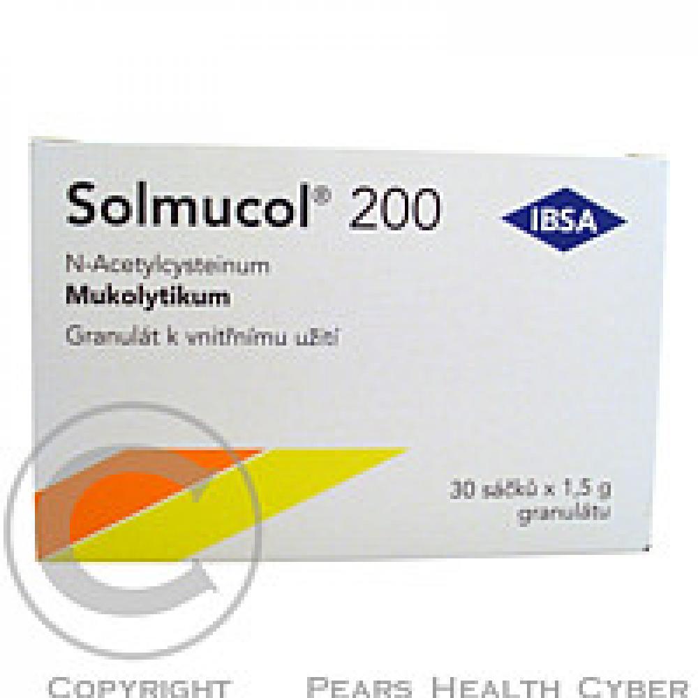 SOLMUCOL 200 30X200MG-SÁČ Granule