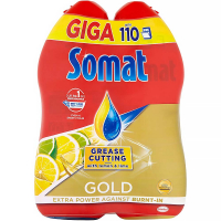 SOMAT Gold Giga Grease Cutting Lemon & Lime 2x 990 ml