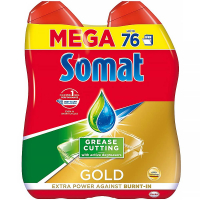 SOMAT Gold Mega gel Anti-grease 2x 684 ml
