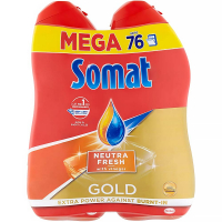 SOMAT Gold Mega gel NeutraFresh 2x 684 ml