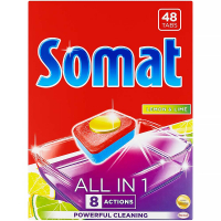 SOMAT All in 1 Lemon & Lime tablety do myčky na nádobí 48 tablet