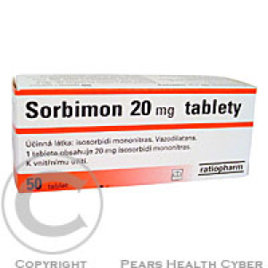 SORBIMON 20 MG  50X20MG Tablety