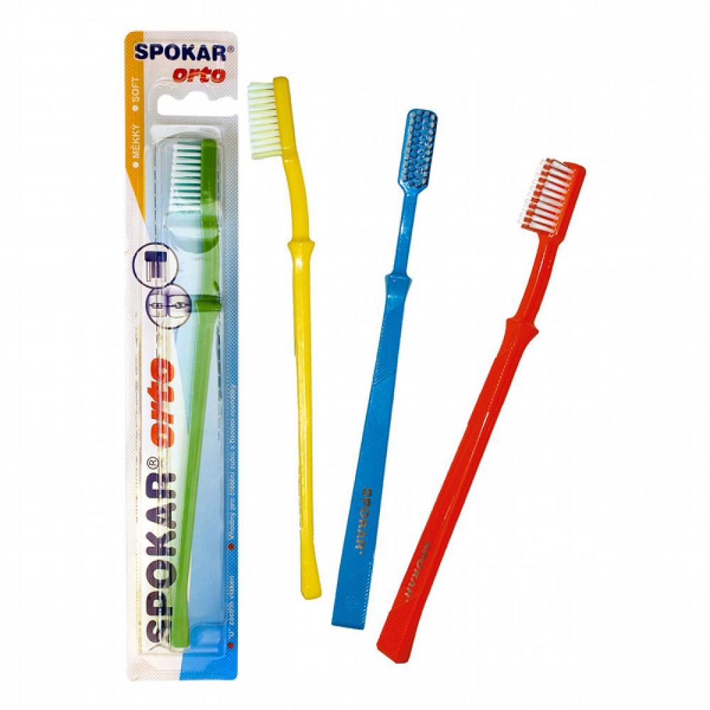 SPOKAR 3412/M ORTO/Beta - zubní kartáček - měkký