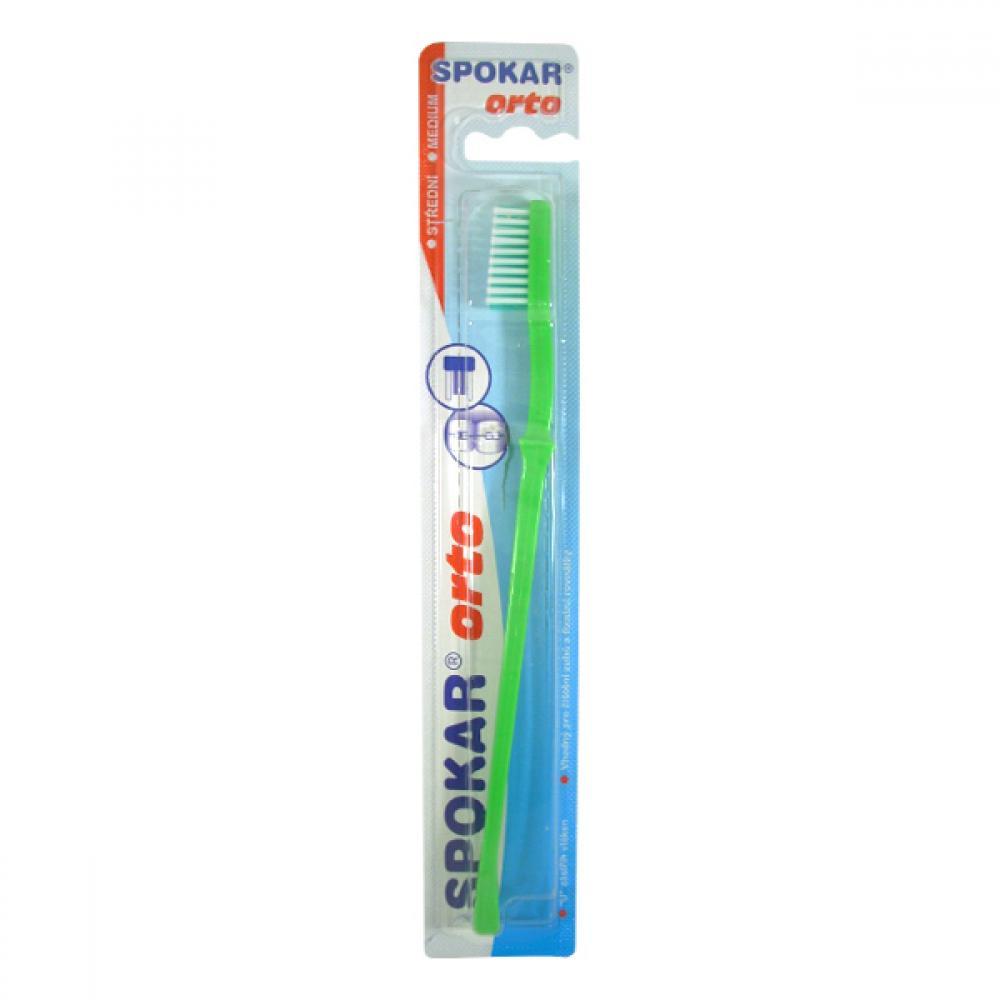 SPOKAR 3412/S ORTO/Beta - zubní kartáček - střední