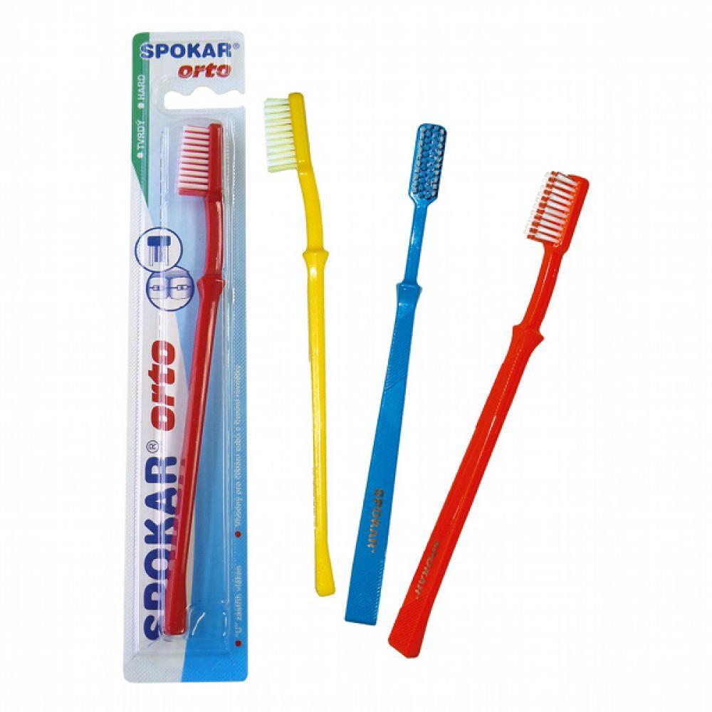 SPOKAR 3412/T ORTO/Beta - zubní kartáček - tvrdý