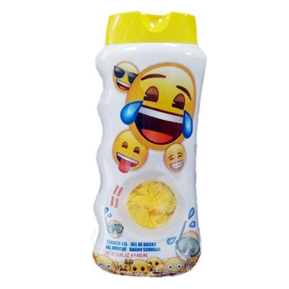 EP LINE Sprchový gel pro děti + houbička na mytí Emoji 450 ml
