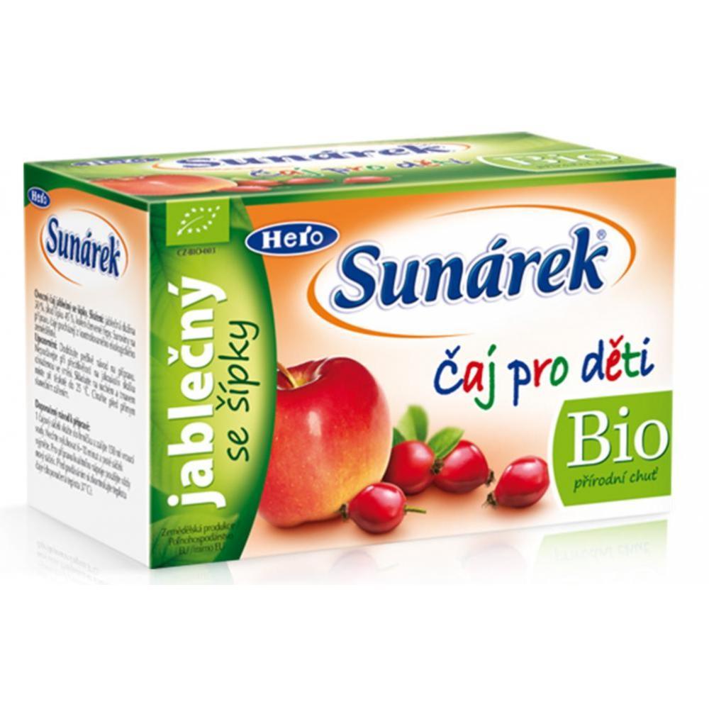 SUNÁREK čaj dětský jablečný se šípky 20 x 1,5 g