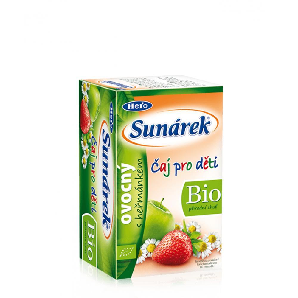 SUNÁREK čaj dětský ovocný s heřmánkem 20 x 1,5 g
