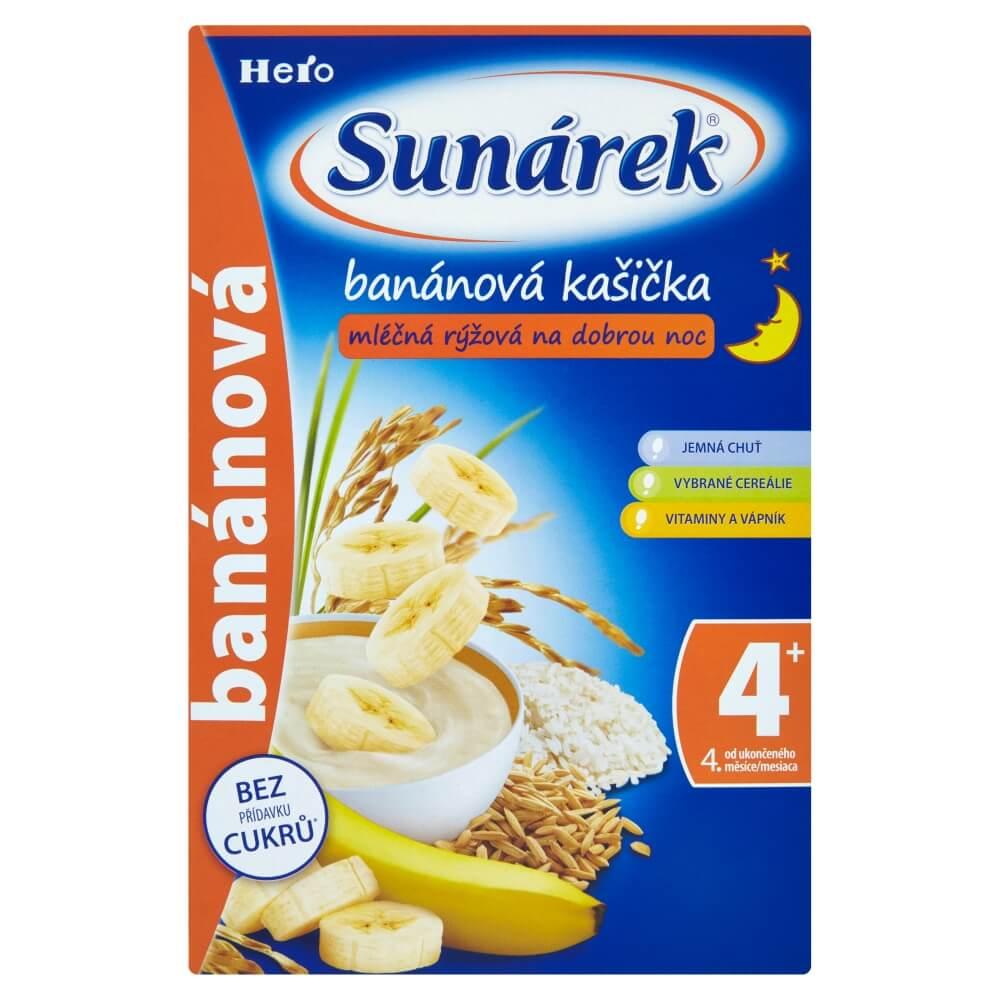 SUNÁREK Kašička mléčná rýžová na dobrou noc Banánová 225 g