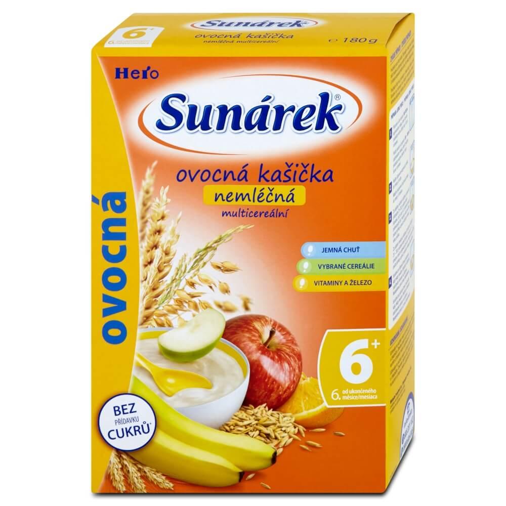 Sunarka ovocná kašička nemléčná s 8 cereáliemi 180 g