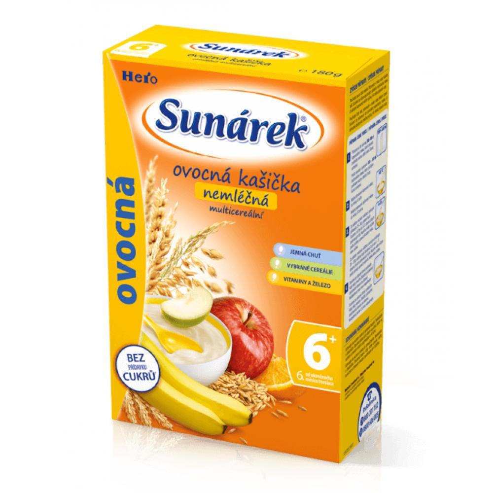SUNARKA kašička ovocná nemléčná s 8 cereáliemi 180 g