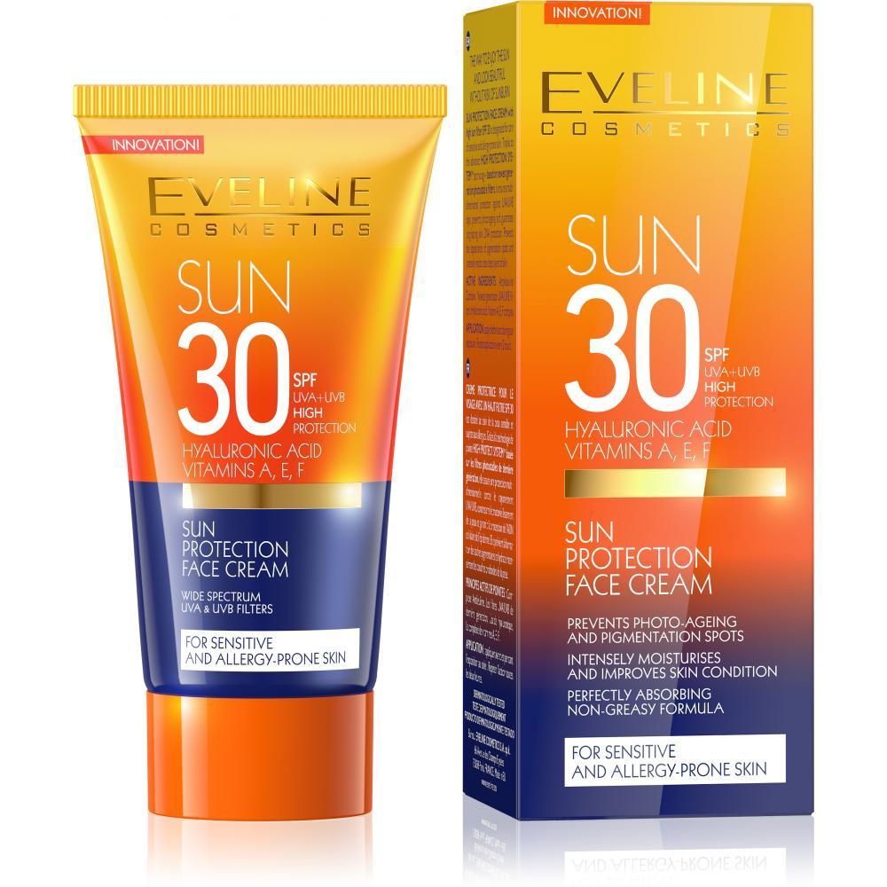 EVELINE SunCare opalovací krém na obličej SPF 30 50 ml