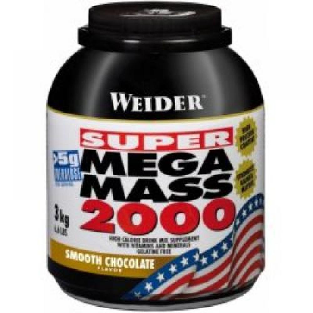 Super Mega Mass 2000, Gainer, Weider, 3000 g - Jahoda