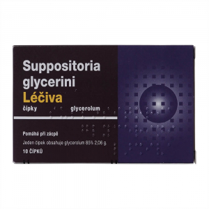 SUPPOSITORIA Glycerini léčiva 2,06 g 10 čípků