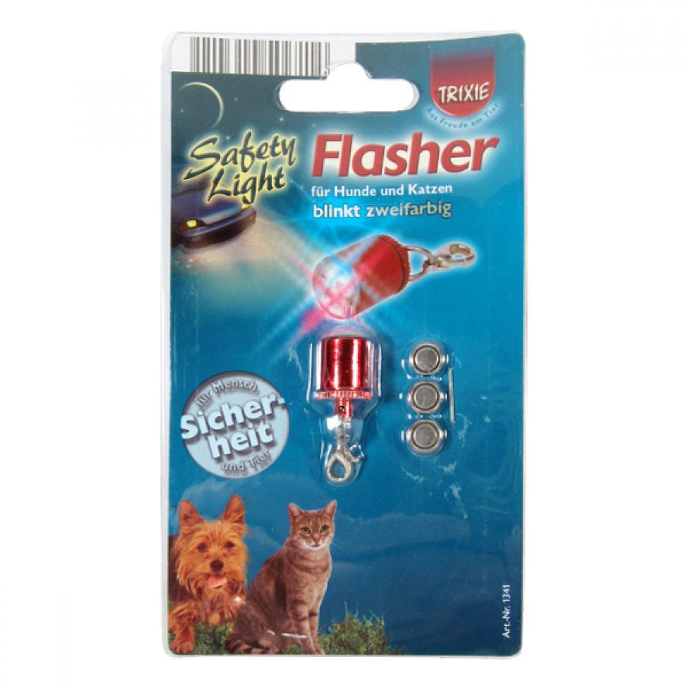Světýlko na obojek Flasher blikací červené TR 1ks