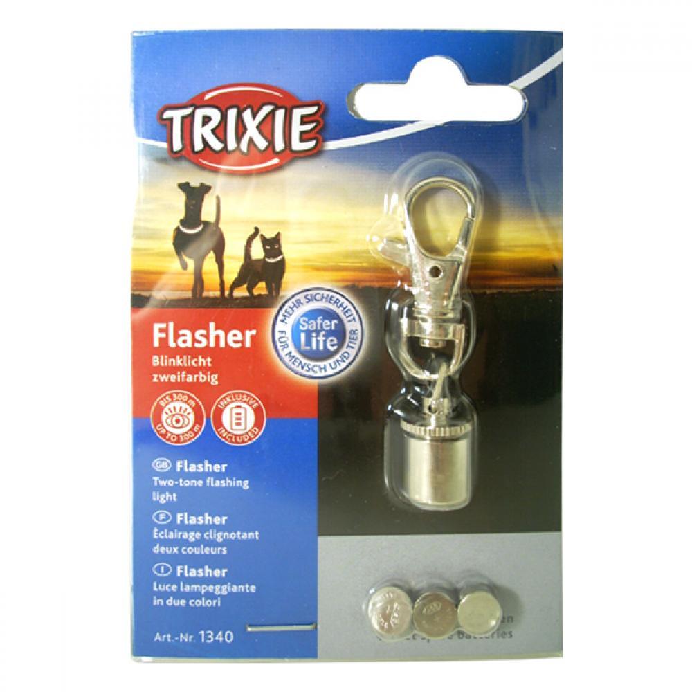 Světýlko na obojek Flasher pes blikací chrom TR 1ks