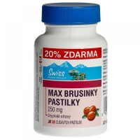 SWISS Max brusinky pastilky 30+6 tablet