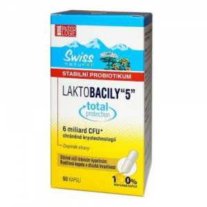 "Swiss Natural Laktobacily ""5"" 60 kapslí"