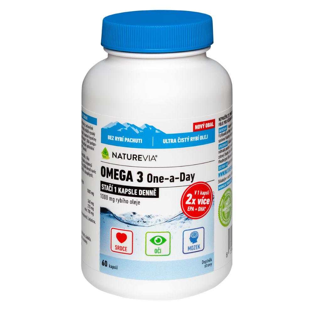 SWISS NatureVia Omega 3 One a Day 60 kapslí