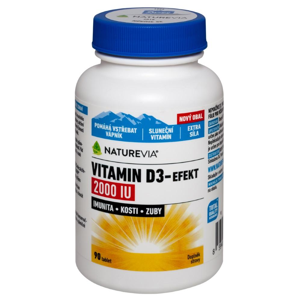 SWISS NATUREVIA Vitamin D3-Efekt 2000I.U. 90 tablet