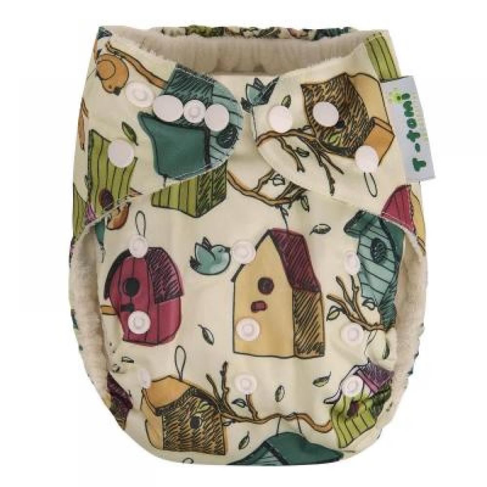 T-TOMI bambusová kalhotková plena AlO Ptačí budky