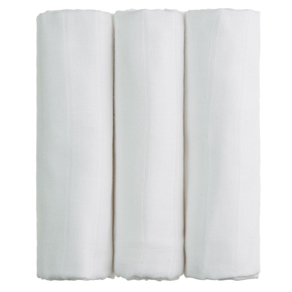 T-TOMI Bambusové pleny Bílá sada 3 ks