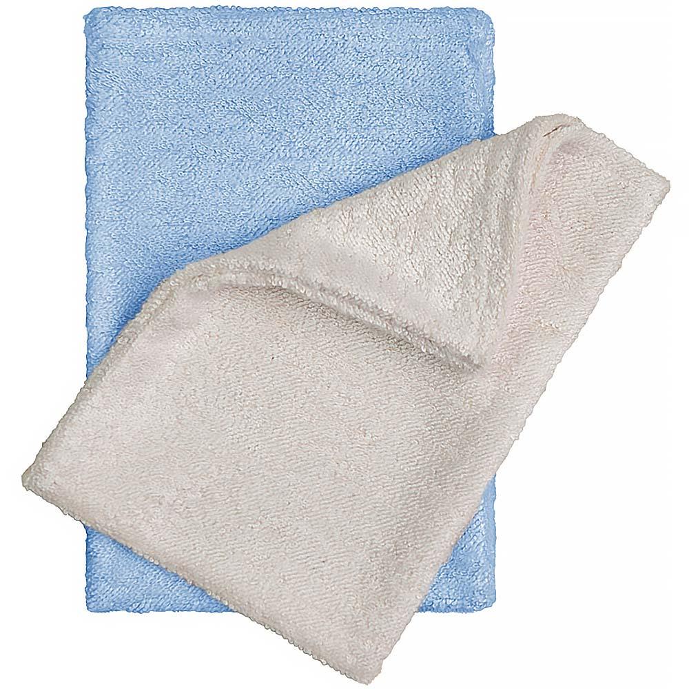 T-TOMI Bambusové žínky - rukavice, natur + modrá