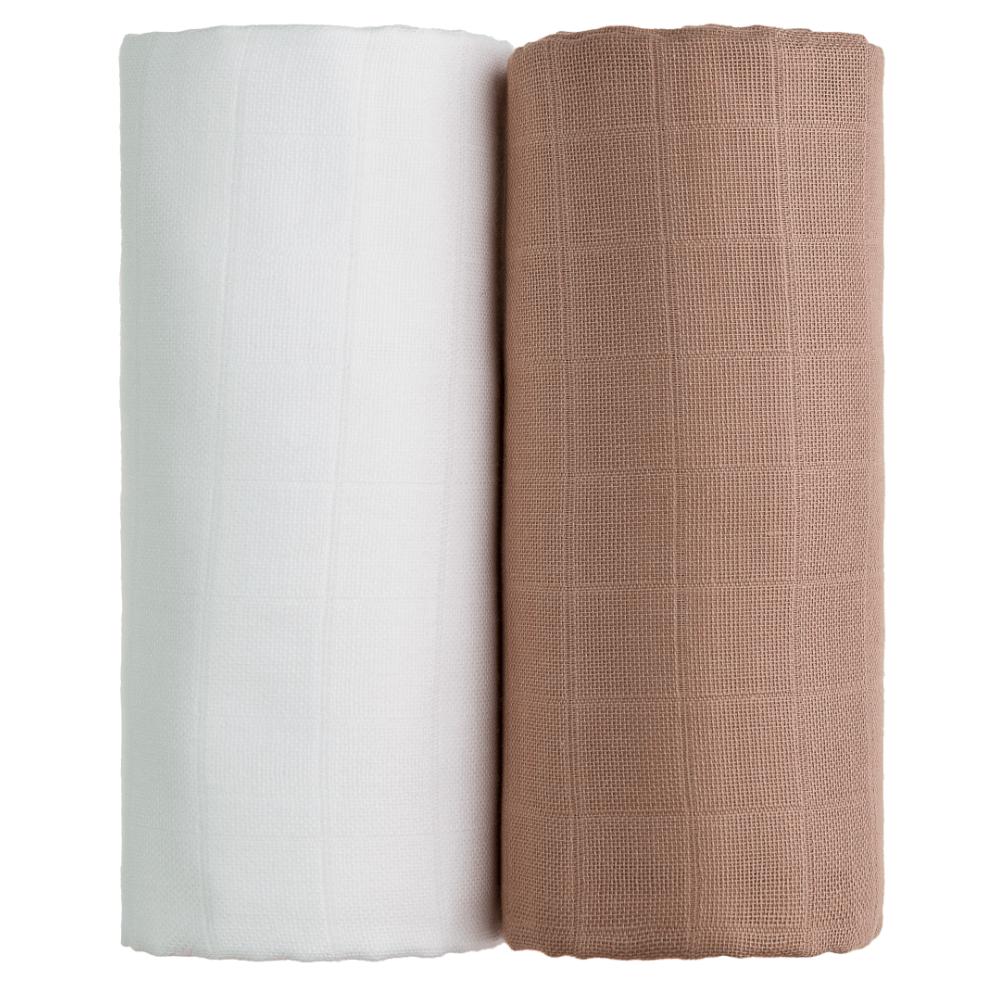 T-TOMI Exclusive Collection Látkové Tetra osušky 2 ks Bílá+béžová
