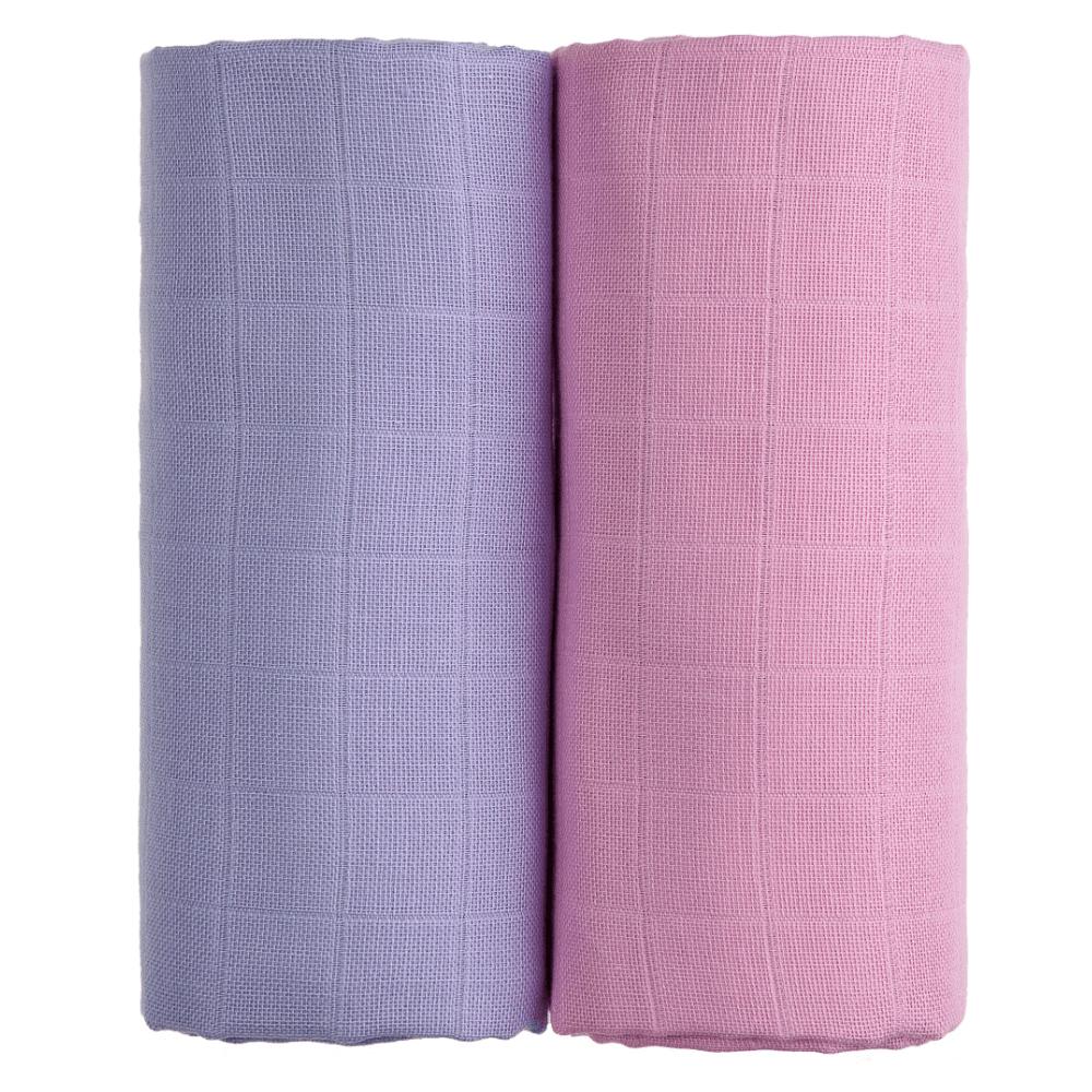 T-TOMI Exclusive Collection Látkové Tetra osušky 2 ks Růžová+fialová