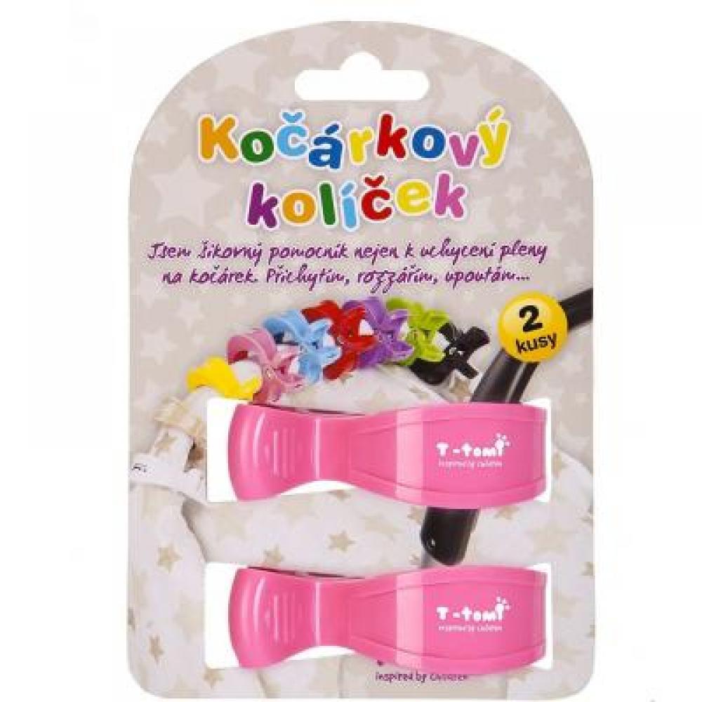 T-TOMI T-TOMI ACCESSORIES T-tomi Accessories T-TOMI Kočárkový kolíček růžový 2 kusy