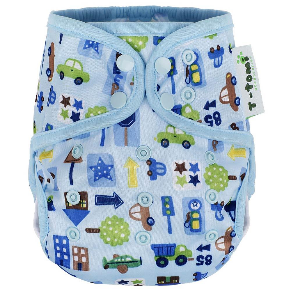 T-TOMI Svrchní kalhotky, Modrá auta