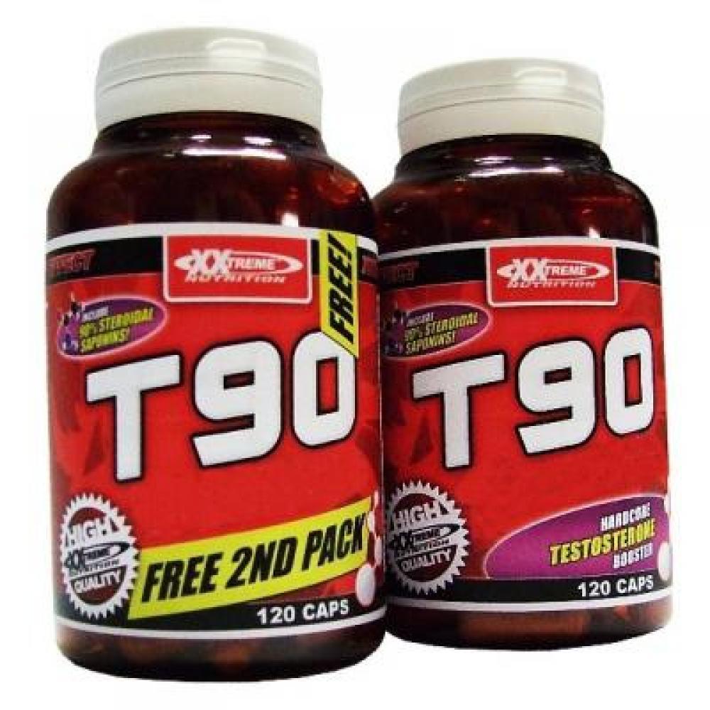 T90 - Xxtreme Testosterone Booster 120 kapslí + 120 kapslí ZDARMA