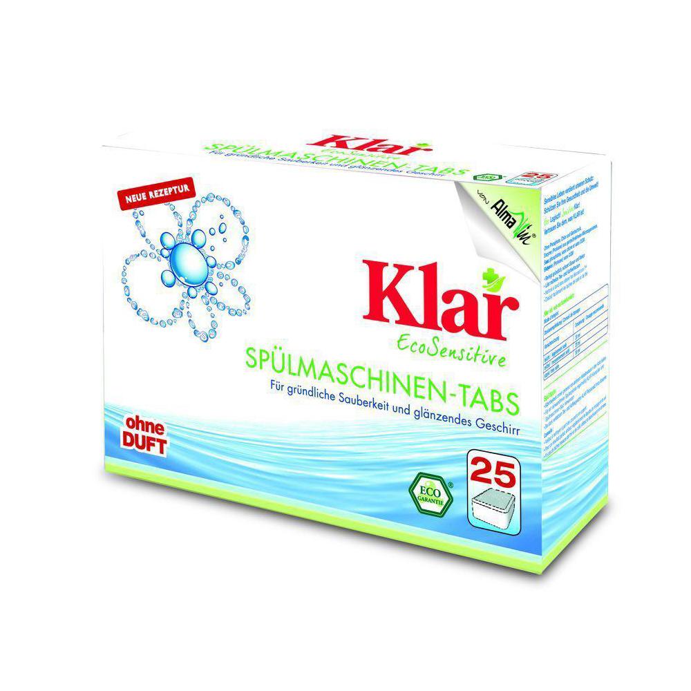 KLAR Tablety do myčky bez vůně 25x20 g